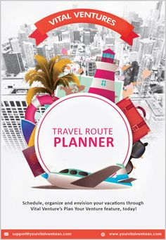 With vital ventures, you can explore millions of places throughout the world. You can schedule travel route planning, organize and envision your vacations through travel route planner with just a few simple steps. Itinerary Planner, Route Planner, Travel Planner, Winter Vacations, Vacation Trips, Best Flights, Travel Route, Schedule, First Love