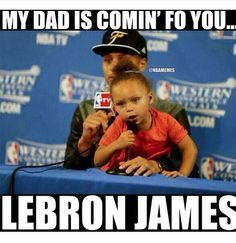 NBA Finals: Here's your Game 1 dose of Riley Curry - zander - Basketball Funny Nba Memes, Funny Basketball Memes, Funny Sports Quotes, Basketball Is Life, Football Memes, Sport Quotes, Really Funny Memes, Funny Relatable Memes, Basketball Relationships