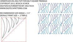 Zig Zag P2P for Half Square Triangles pantograph by Jessica Schick JSPANTO209