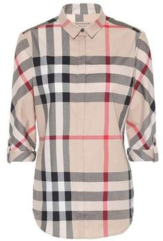 Check cotton shirt  shirt design slim Burberry Men, Luxury Fashion, Womens 98ec99bab46