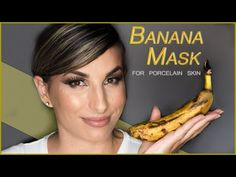 Μάσκα ΜΠΑΝΑΝΑΣ για να αποκτήσετε ΑΛΑΒΑΣΤΡΙΝΟ δέρμα χωρίς ΡΥΤΙΔΕΣ! || Vasiliki Von - YouTube Banana Mask, Porcelain Skin, Homemade Beauty, Hair Beauty, Fruit, Health, Youtube, Diy, Salud