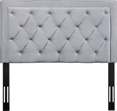Shop high-quality contemporary and stylish home furnishings. Nacht Full Headboard in Grey Velvet Your bedroom needs a little something extra so add that finishing touch w Headboards For Sale, Handmade Headboards, Full Size Headboard, Twin Headboard, Bed Next, Velvet Headboard, Headboard Designs, Fabric Panels, Wall Fabric
