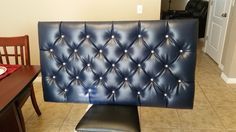 DIY Blue Tufted Floating Headboard with Diamond Pattern Material prices below are only estimates and don't reflect any taxes, coupons or discounts. Most craf...