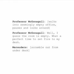 best relationship in HP univers: the marauders and McGonagall ;p
