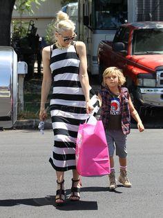 Gwen Stefani stripes