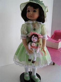 """LITTLE DARLING OUTFIT & DIANNA EFFNER PUSH MOLD """"CLOTH DOLL' DESIGN LITTLE DOLL"""