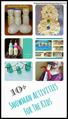 10+ Snowman Activities