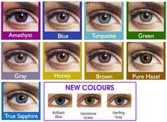 FreshLook Contact Lenses Brand New FreshLook Contact Lenses Colors ~Gray~Blue~Amethyst~Pure Hazel~Sterling Gray~Brilliant Blue~True Sapphire~Gemstone Green~Brown~Honey~Turquoise~Green~ Fresh Look Contact Lenses, Soft Contact Lenses, Color Blending, Eye Color, Prescription Colored Contacts, Sterling Grey, Halloween Contacts, Eye Pictures, Circle Lenses
