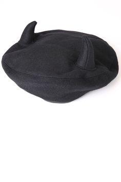Kokon to Zia horned beret Wool Berets 2481253ad7a2