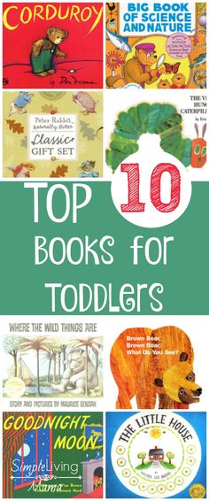 This list of top 10 books for toddlers is a must-see! Read each of these books to your toddler for a well-rounded childhood!