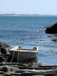 moored boat in the bay