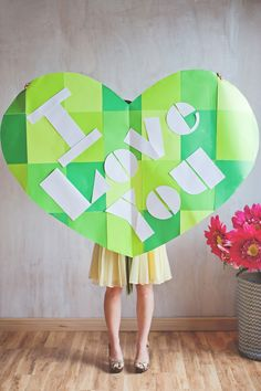 I love you wall letters >> click through for the printable template