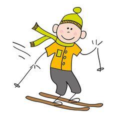 Boy on ski's by Cieleke, via Flickr
