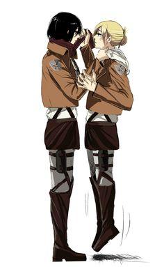 Mikasa Ackerman and Annie Leonhart Shingeki no Kyojin