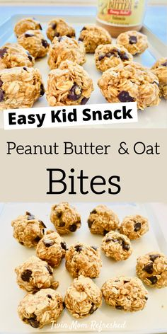 An easy snack recipe for peanut butter balls. This no bake energy ball recipe is a healthy and quick food idea to make for the family! snacks breakfast Peanut Butter Ball Recipe for Kids