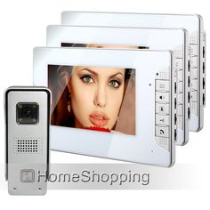 191.08$  Watch now - http://alic0o.worldwells.pw/go.php?t=32268926725 - FREE SHIPPING Home Security Wired 7 inch Video Intercom Door Phone System 3 White Monitor 1 Waterproof Doorbell Camera In Stock
