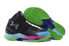 Men\\u0026#39;s Under Armour Stephen Curry 2 Black Silver Blue Pink