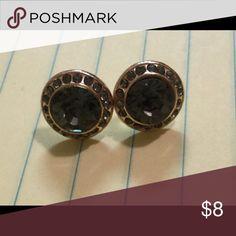 Beautiful post earrings Beautiful, excellent condition jewel tone earrings. Looks similar to slate / sapphire stones. Jewelry Earrings