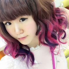 WEBSTA @ miyabi7goof - new hair⭐️my favorite purple and pink 💜💝✨ 全体を暗めのぴんくっぽいむらさきっぽい色にしてもらいました😘毛先は前回と同じでぴんくとむらさきをランダム。#hairstyle #haircolor #ヘアスタイル #ヘアカラー #ヘアカラーチェンジ #haircolorchange #髪色変えた #髪色チェンジ #pinkhair #pink #紫 #purplehair #purple #ピンクヘアー #ピンク #派手髪 #派手髪教会 #manicpanic #マニックパニック #マニパニ #colorfulhair #カラフルヘアー Spring, Instagram