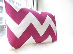 Chevron Pillow in Fuchsia. $42.00, via Etsy.