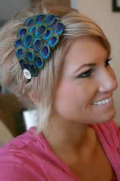Hello peacock headband. Where were you when I was getting married?