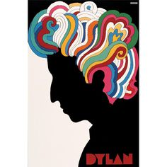 """We too love Bob Dylan's """"poetic expressions,"""" Nobel Prize committee! And this 1967 poster by Milton Glaser—designed for Columbia Records' 1967 edition of Dylan's Greatest Hits; copies were tucked into slipcovers when the album was released.⠀ ⠀ Credit: Dylan poster (1967)⠀ Collections: Design and Printing for Commerce (1968)⠀ Discipline: Promotional design and advertising⠀ Format: Posters⠀ Art directors: Robert Cato, John Berg⠀ Designer: Milton Glaser⠀ Artist: Milton Glaser⠀ Client: Columbia…"""