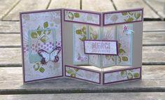 Tutoriel carte pliée anniversaire par Marie Meyer Stampin up - http://ateliers-scrapbooking.fr/