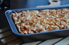 glutenvrij appel plaatcake recept Cereal, Meat, Chicken, Breakfast, Food, Morning Coffee, Essen, Meals, Yemek