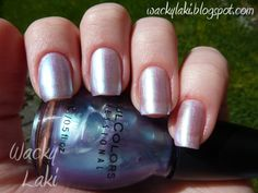 August 2012 : Sinful Colors in color: #322 Let Me Go ... this by far is my all time fav color this month ... in 3 coats it gets deeper and has so many twists and turns with the purples and greens and pinks and blues - its really cute