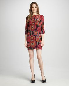 Medallion-Print Dress - Neiman Marcus