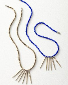 I love the blue one. But my mouth droppe dopen at the price. Yikes. Dream Collective Quills Necklace