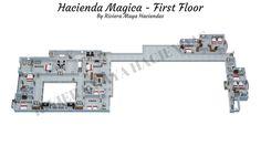 Riviera Maya Haciendas, Hacienda Magica - First Floor Plan 3D.