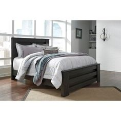 Shop for Signature Design by Ashley Brinxton Black Poster Headboard. Get free delivery at Overstock.com - Your Online Furniture Shop! Get 5% in rewards with Club O! - 20842056