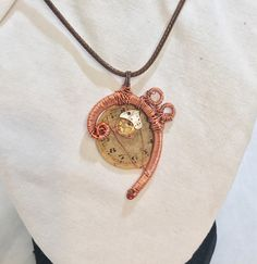 Copper Bass Clef Note Steampunk Pendant by MelsMakeBelieve on Etsy