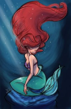 ariel was by far my favorite disney princess as a little girl. i used to brush my hair with a dinglehopper! Disney Kunst, Arte Disney, Disney Fan Art, Disney Love, Disney Magic, Disney Stuff, Disney Animation, Disney Pixar, Disney And Dreamworks