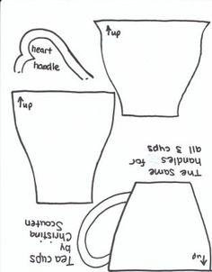 Teacup Applique Pattern