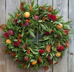 Clementine Magnolia Wreath by CircleHomeAndDesign on Etsy
