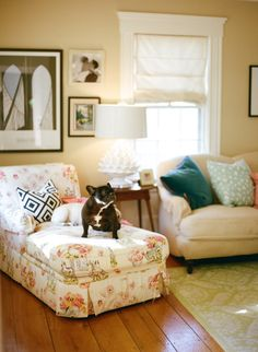 Sarah Crawford's Home Tour - Style Me Pretty Living Style Me Pretty Living, Loft Studio, Dream Decor, Home Interior, Red And Blue, Blue Cream, House Tours, Throw Pillows, Fabric