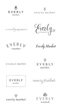 WIP: Everly Market Logo Options — June Letters Studio