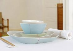 Have to find better picture of these gorgeous Anne Black Tilt Porcelain Dishware — ACCESSORIES -- Better Living Through Design