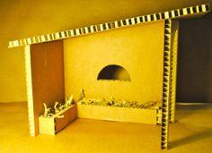Portal de Belén en cartón