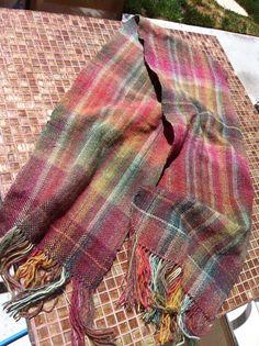 weaving project, using a self-striping yarn.