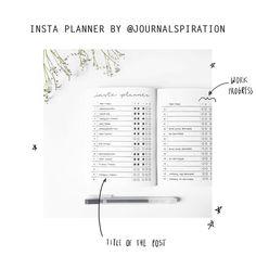 """Polubienia: 347, komentarze: 4 – Lena • 21 • Journal Lover (@bulletjournal.inspiration) na Instagramie: """"Insta Planner by @journalspiration ✌ #bulletjournal #bulletjournaling #journal #journaling #bujo…"""""""