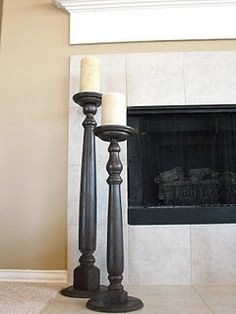 {Tutorial} How to make tall candle stick holders using spindles.
