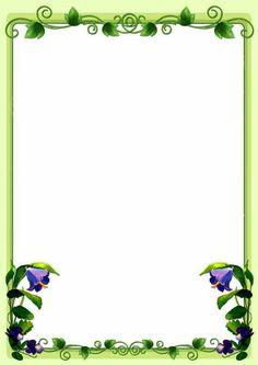 Frame Border Design, Boarder Designs, Page Borders Design, Flower Border Clipart, Boarders And Frames, Doodle Frames, School Frame, Powerpoint Background Design, Coloring Book Art