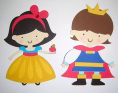 Princess Snow White and Prince Die Cut Paper Doll Scrapbook Embellishment