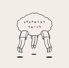 Matt Blease dreamers unite illustration and lettering Art And Illustration, Matt Blease, Posca Art, Art Inspo, Line Art, The Dreamers, Art Drawings, Doodles, Sketches