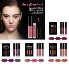 #BuyinCoins - #BuyinCoins 3pcs Beauty Women Professional Hot Fashion Lip Gloss Matte Waterproof Liquid Lipsticks Set Party Gift Kit - AdoreWe.com