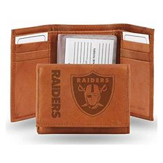 Oakland Raiders NFL Manmade Leather Tri-Fold