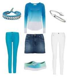 Turquoise by jofobbester on Polyvore featuring polyvore fashion style Velvet by Graham & Spencer Proenza Schouler Marc 7 For All Mankind Vans Diesel Jules Smith clothing